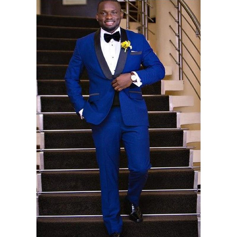 Compre Vestido De Boda Para Hombre Traje Delgado Trajes De Ropa De Hombre  Comercial Hombre Azul Marino A  173.71 Del Harrietai  9657101f8b2