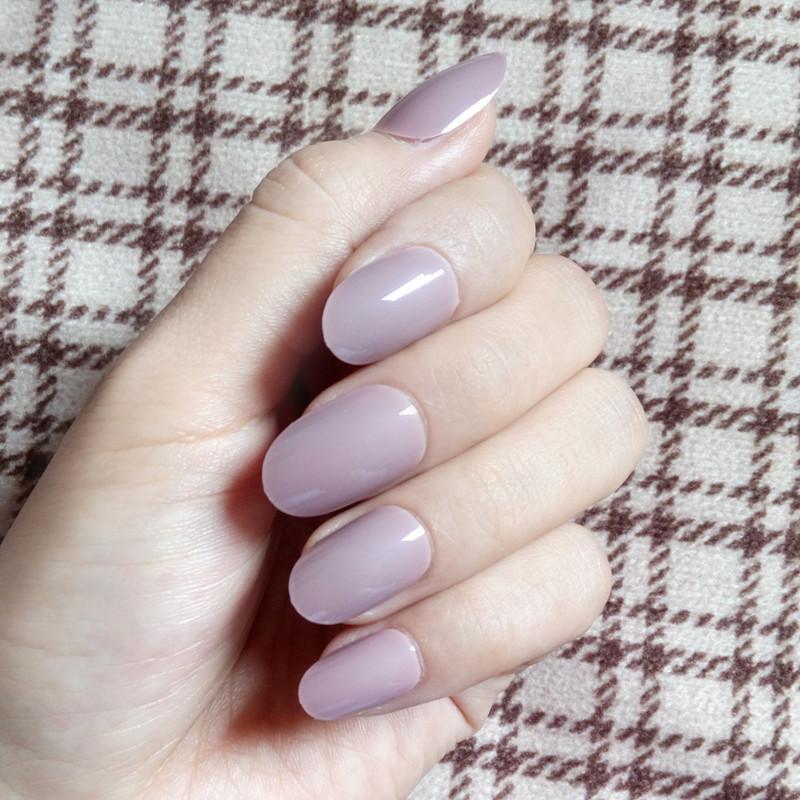 Fashion Artificial Fake Nail Tips Light Brown Acrylic False Nail