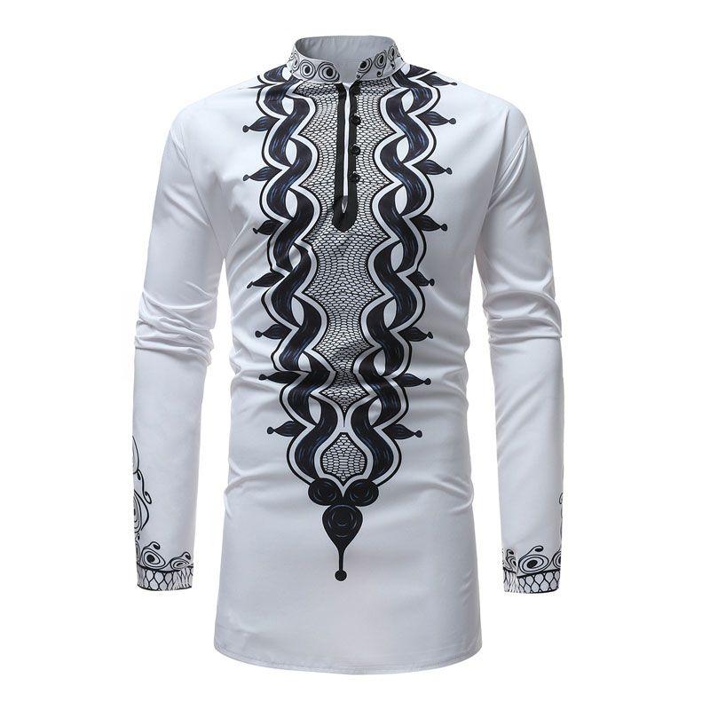 Acheter Nouvelle Kzotiupx Africain Dashiki Robe Chemise 2018 Hommes 6gvYfIbm7y
