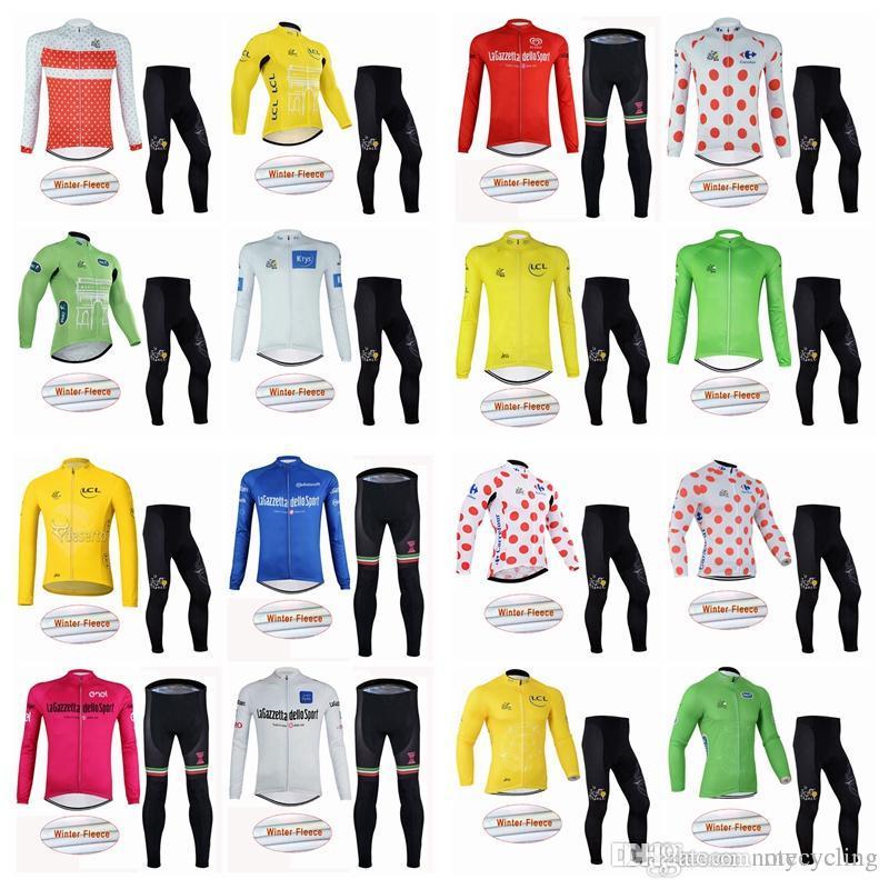 TOUR DE FRANCE Team Riding Winter Warm Wool Sweat Pants Suit Hot Bike Ropa  Ciclismo Size XXS-4XL A42434 TOUR DE FRANCE Cycling Jersey Mtb Jersey  Camisa De ... 4f94bc929