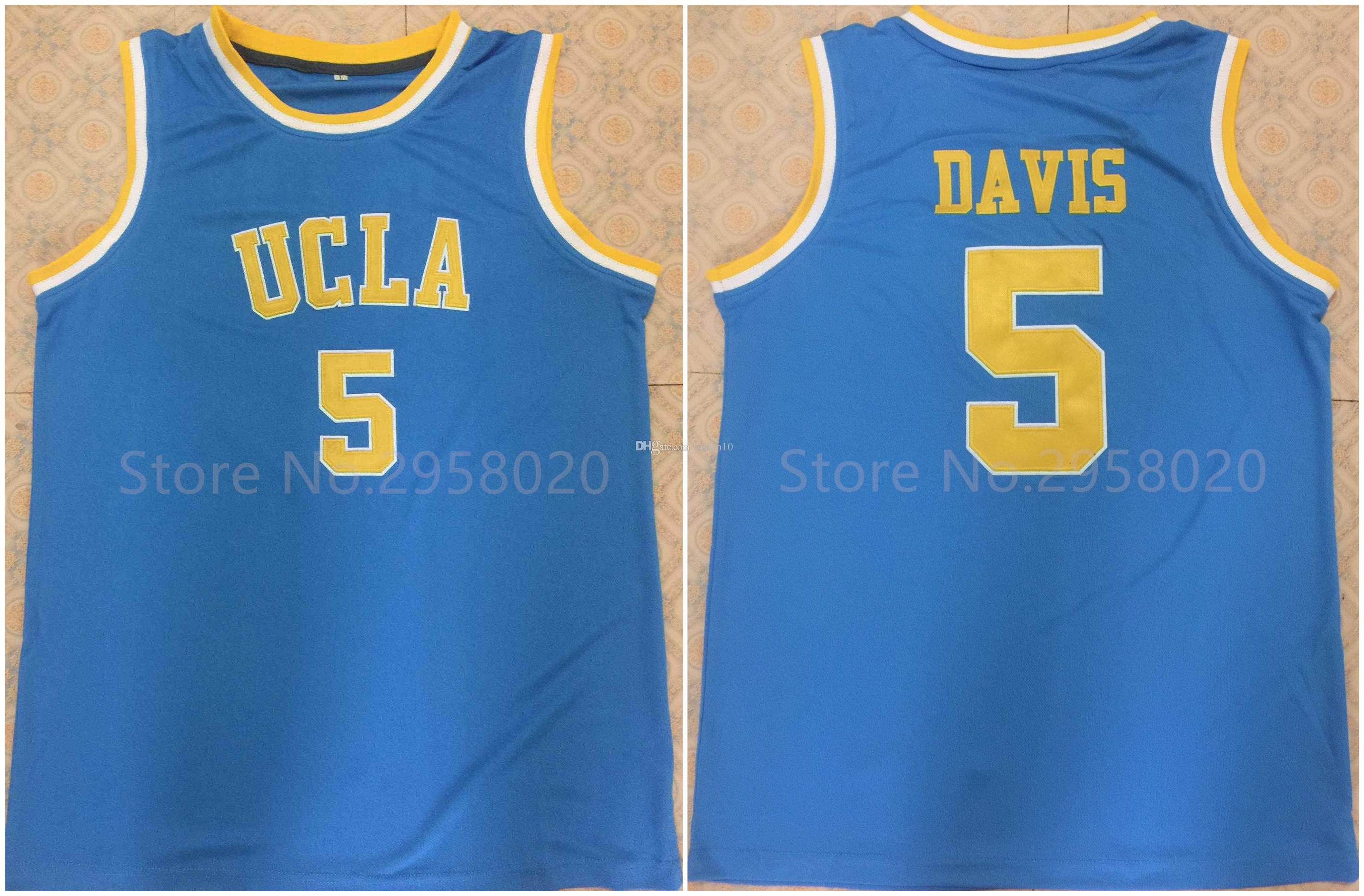 60e45f027 2019  5 Baron Davis UCLA Bruins College Blue White Retro Classic Basketball  Jersey Mens Embroidery Stitched Custom Any Number And Name Jerseys From  Yufan10