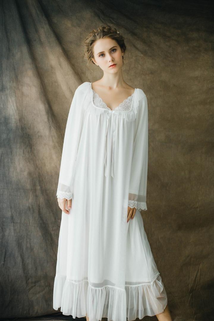 Vestido blanco con lazo rosa mujer