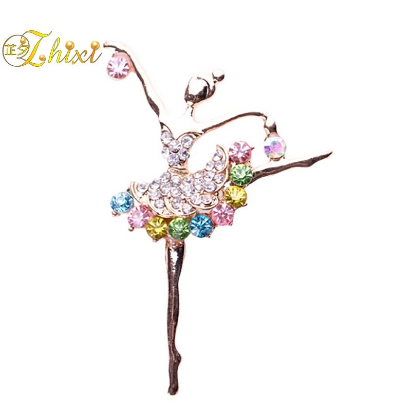 74e30195bd8 2019 ZHIXI Simple And Stylish Dancing Brooches For Women Fine Jewelry White  Brooch Jewelry Luxury Pins For Clothes Trendy B128 From Watchesgreat, ...