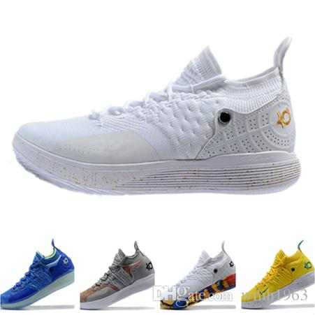 4afba6787c9 2018 Top Kevin Durant 11 Basketball Shoes Mens Durant Kd 11  Gold Championship MVP Finals Training Designer Sneakers Running Shoes Size  7 12 Shoes Sale ...
