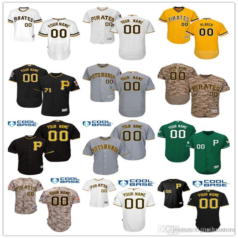 the best attitude 59221 c1e8d 2016 Flexbase Custom Men's Ph Pirates cool base Authentic Collection  Personalized Double Stitched Baseball Jersey S-3XL