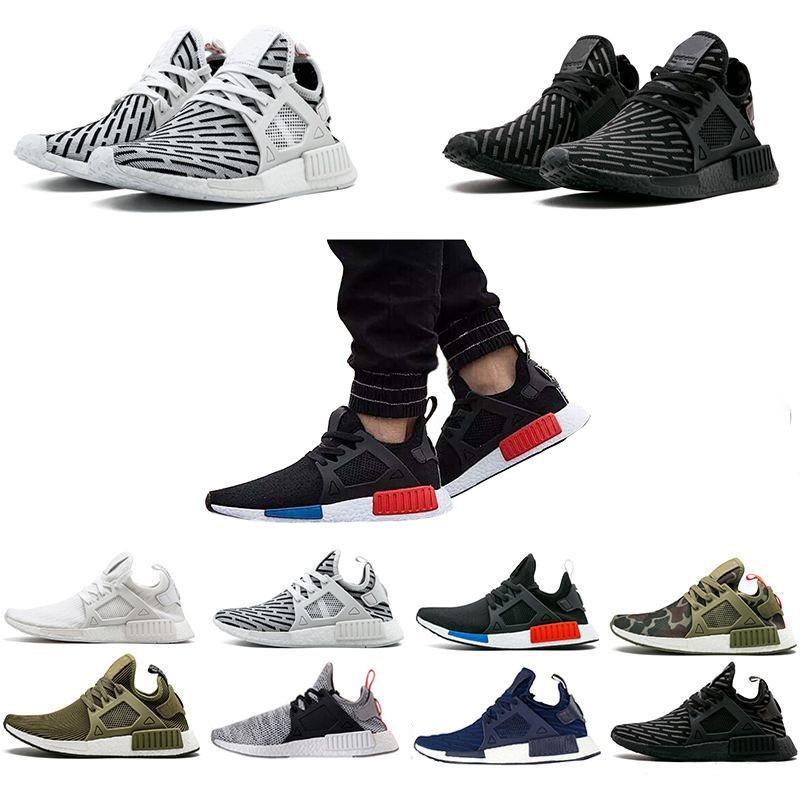 632785d27 Running Shoes Sneakers Monochrome Mesh Triple White Black Men Shoe ...
