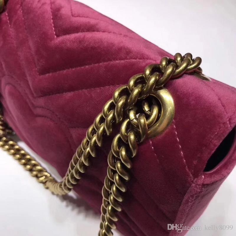 663e20d8fdb2d 2018 NEUE ANKOMMEN Luxus Handtaschen Frauen Taschen Designer kleine  Messenger Velour Taschen Feminina samt Mädchen Tasche