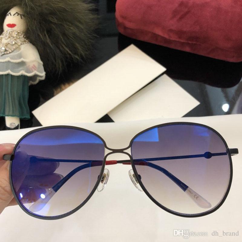 5c8fc2f02e Vintage Oversize Round Sunglasses Women 2018 Transparent Lens UV400 ...