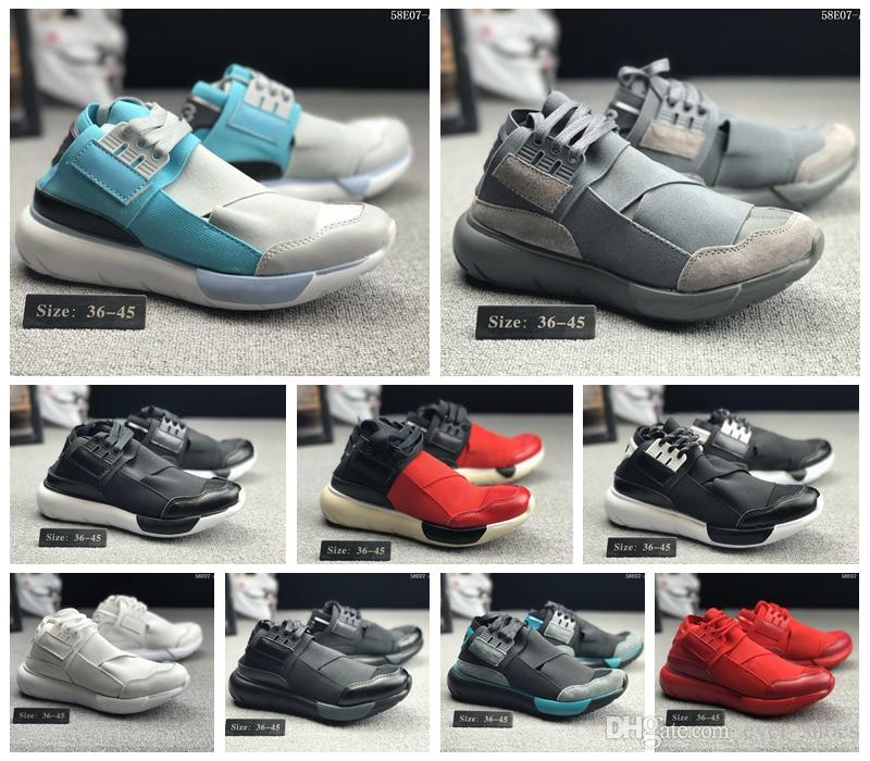 0becd1532 2018 New Y 3 QASA HIGH Men And Women Running Shoes Fashion Street Culture  Luxury Brand Designer Y3 Outdoor Sports Trainers Luxury Sneakers Best  Running ...