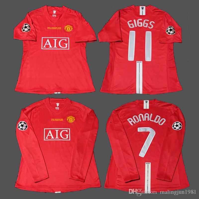 2019 07 08 Cristiano Ronaldo Giggs Rooney Scholes Nani MAN Vintage League  2008 Champion Retro Soccer Jersey Maillot UTD Football Shirts Camiseta From  ... d5c0f58877ed9