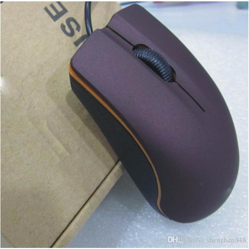 2018 Lenovo M20 Ratón óptico USB Mini Ratones para fabricantes de juegos con cable con una caja de venta al por menor para computadora portátil y computadora portátil C-SJ