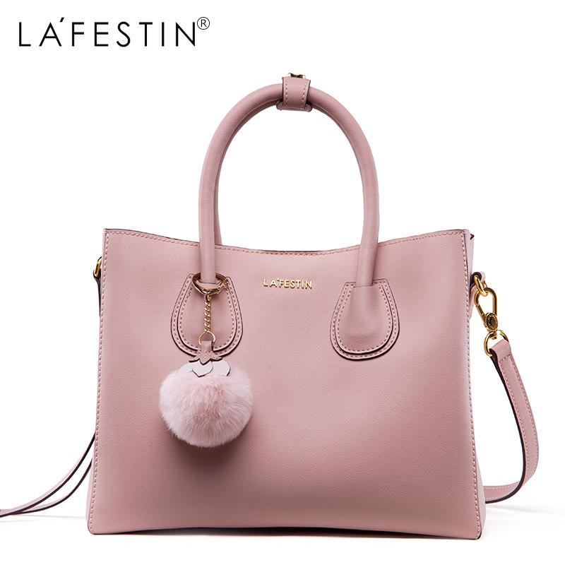 48cf41851d LAFESTIN 2018 Women Handbag Leather Bag Lady Soild Shoulder Bag Crossbody Bags  Fashion Female Bags Leather Bags For Women Womens Bags From Paradise03