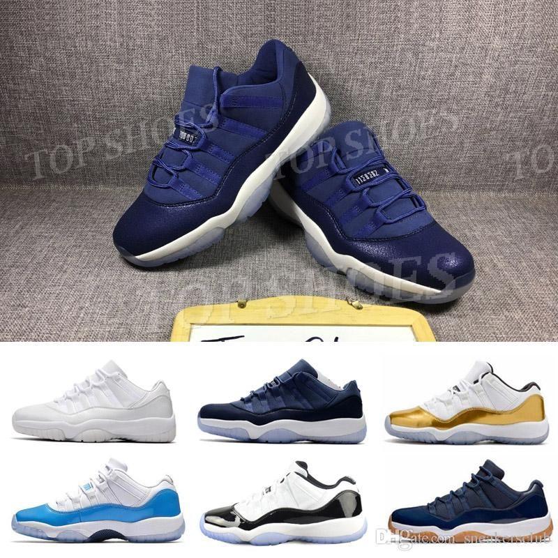 eafcd1d90fd6 Acheter Nouveau 11s Bleu Marine Or Argent Orange Bleu UNC 72 Win 10 Baskets  Baskets Femmes Et Hommes Baskets Baskets Taille 38 47 De $54.02 Du  Sneakersclub ...