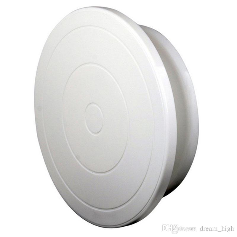 White 28CM Plastic Cake Turntable Rotating Cake Decorating Plate 11 Cakes Stand Rotary Table Baking Tools