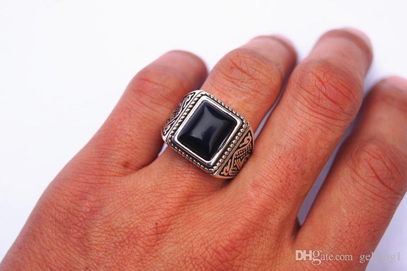 Свободная перевозка - сплав инкрустировал тибетские черные глаза морской свинки, кольцо, квадратную поверхность кольца. Успешный выбор людей.