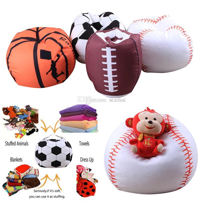 Clothing & Wardrobe Storage Reasonable 26-inch Football Shaped Storage Bag Stuffed Animal Bean Bag Kids Clothes Toy Organizer Baseball Basketball Clothes Storage Bag