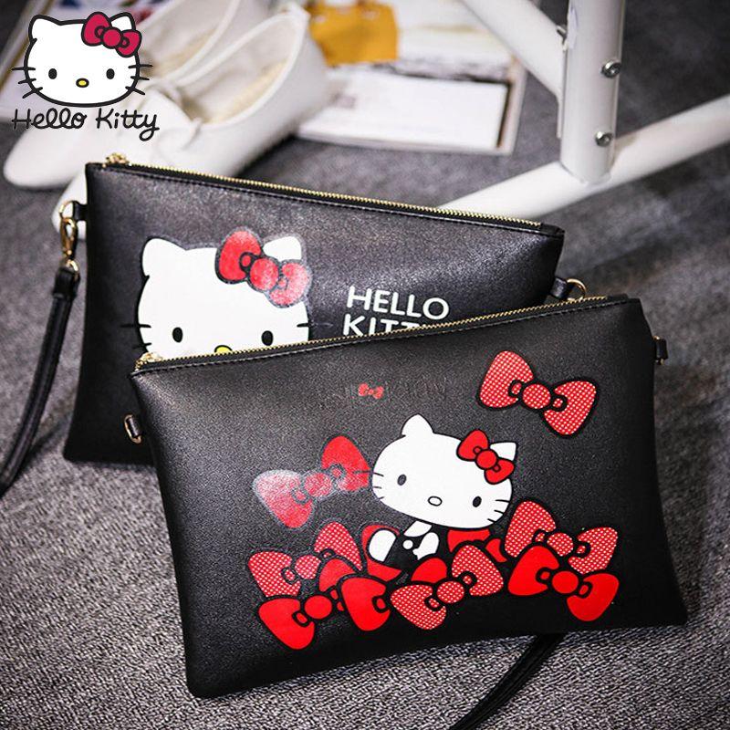 c985e892b 2019 Hello Kitty Women Messenger Bags 2018Fashion Mini Leather Handbag  Cartoon Envelope Hand Bag Bolsas Feminina Stuff Plush Backpack From  Toyshome, ...