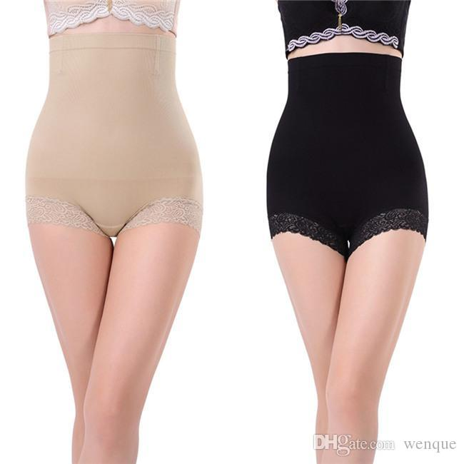 8d3a6eb572e29 2018 Wholesale Hot Body Shapers Seamless Women Brief High Waist Trainer  Belly Control Shapewear Pants Shorts 2017 L4 From Wenque