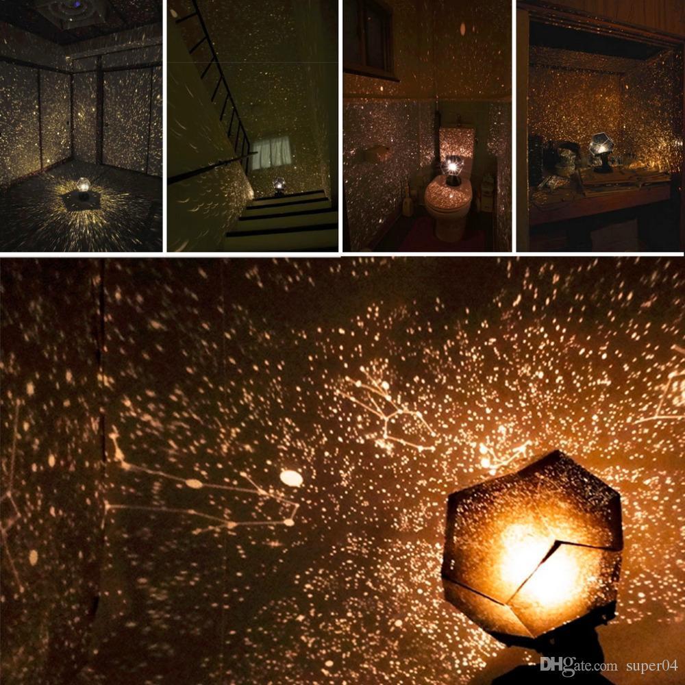 Projecteur Sky Astro Romantique De Nuit Étoilé Décoration Gadget Projection Céleste Chambre Lampe Veilleuse Star Éclairage Cosmos trdQshC