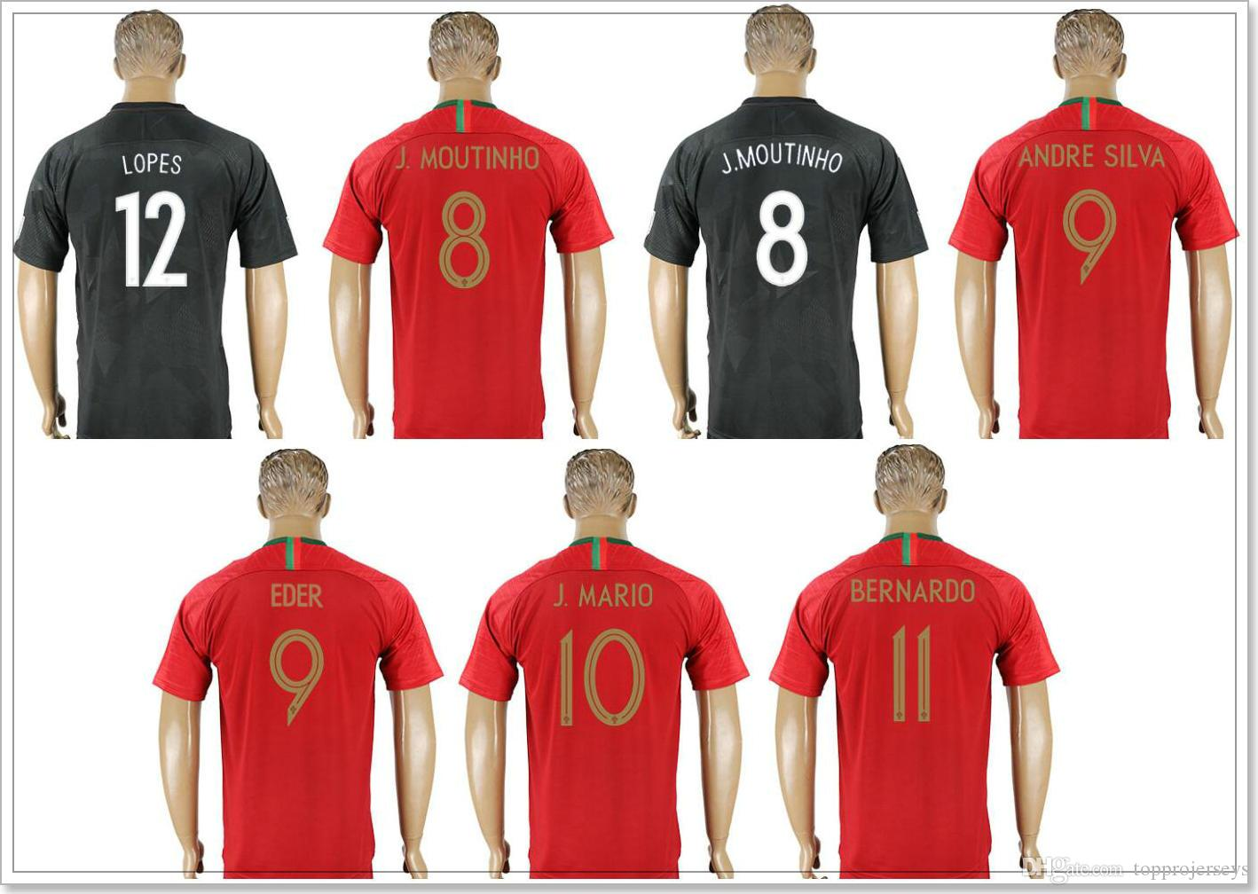 fbb05c23b7e ... soccer jersey 90850 bc8fe  where can i buy mens portugal 8 joo moutinho  9 andré silva 9 eder 10 joo