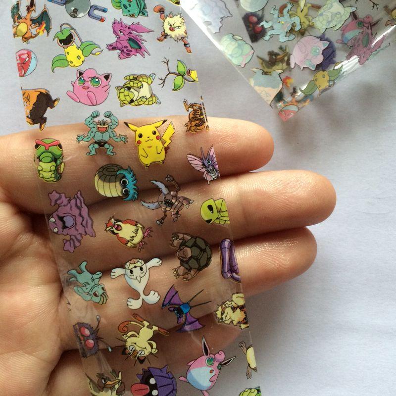 New 1004cm Cartoon Parttern Nail Art Transfer Foils Adhesive