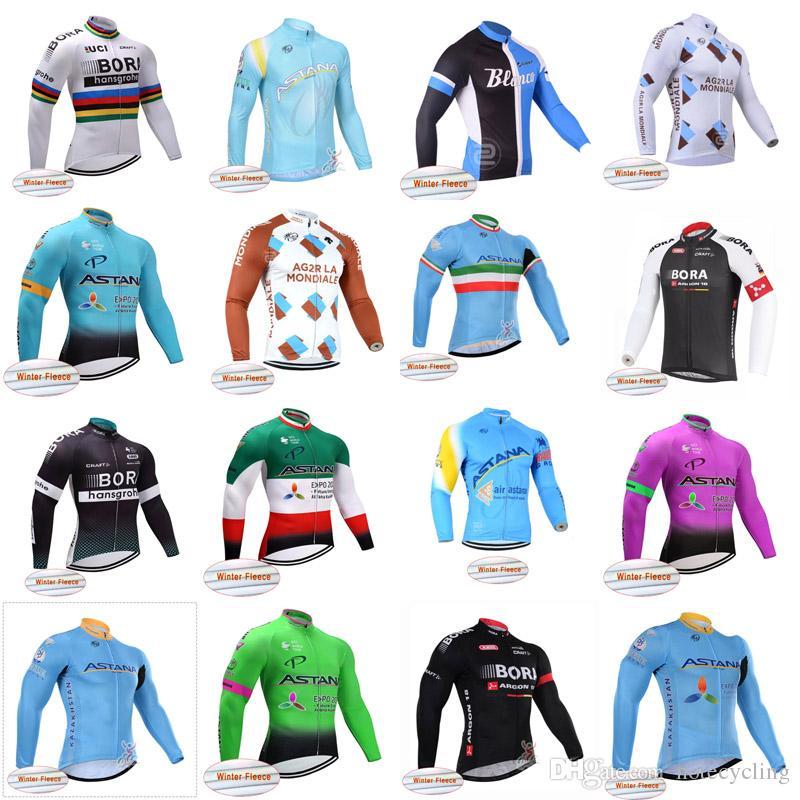 ASTANA AG2R Team Bike Winter Warm Wool Jersey 2018 New Sports Men s  Mountain Bike Bicycle Ropa Ciclismo Outdoor Sportswear A42314 ASTANA Cycling  Jersey ... 9a7fc2413