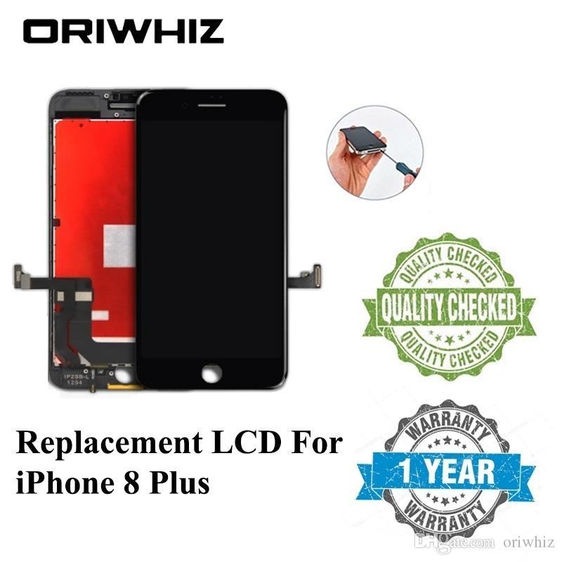 iPhone 8 artı LCD Sayısallaştırıcı Meclisi Dokunmatik Ekran Siyah Beyaz Renk için Yüksek Kaliteli Yedek Ekran% 100 Testi Mix Sipariş Tamam geçti