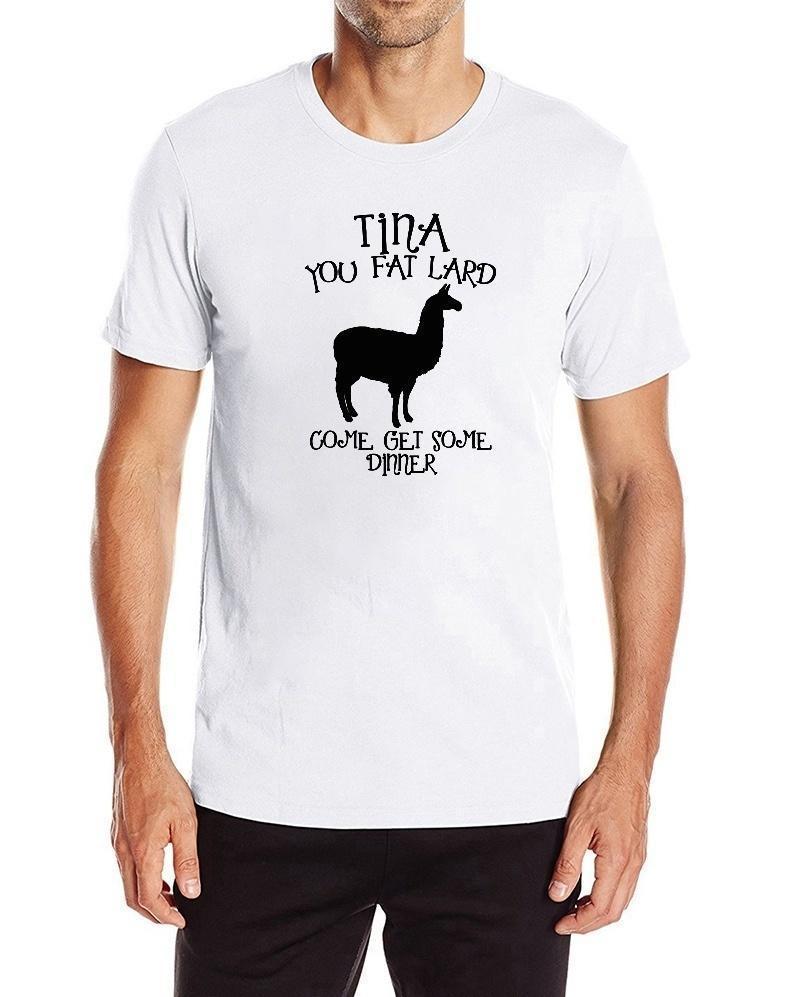 aed4f285852f Großhandel Alpaka T Shirt Männer Tina Fett Schmalz Wie Man Etwas Abendessen  Bekommen Schwarzer Baumwoll T Shirt Witz Süßes T Shirt Von Amesion85, ...
