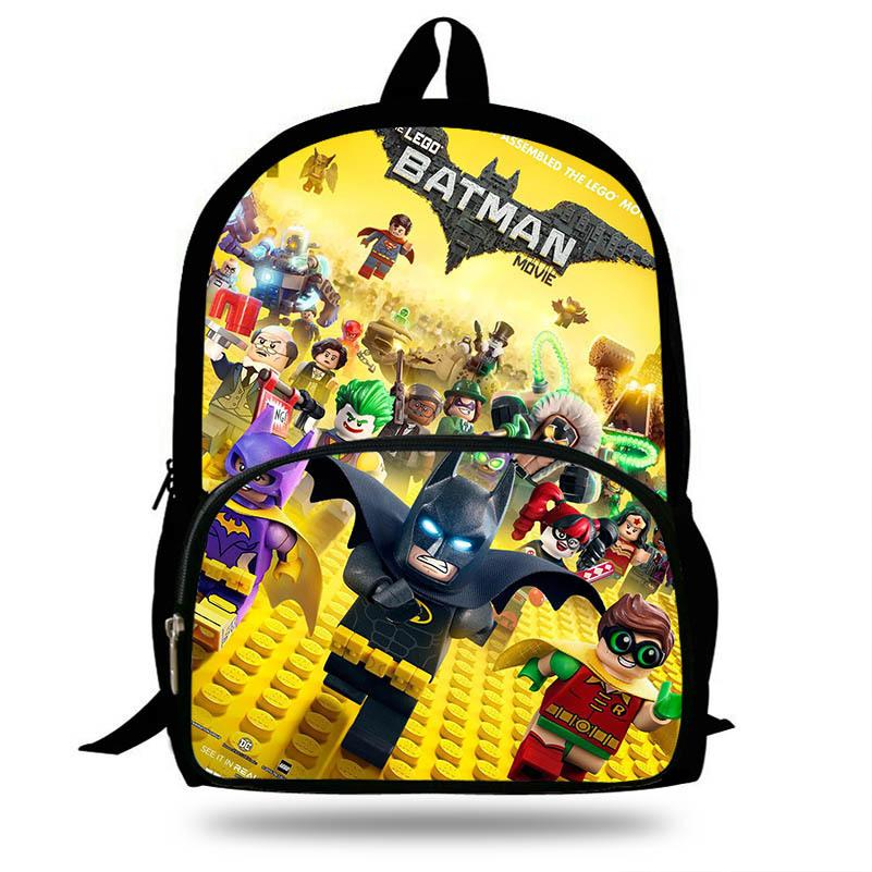 22bf94be92fd Newest 16 Inch Batman Cartoon Backpack For Children Pop Surper Man Hero  Movie Printing School Bags Boys Girls Daily Bookbag Y18100804 Hiking  Backpacks Small ...