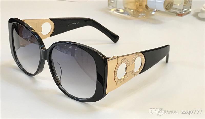Yeni moda tasarımcısı kadın güneş gözlüğü küçük diamonds 900 büyük çerçeve basit popüler hollow tarzı en kaliteli uv400 koruma gözlük