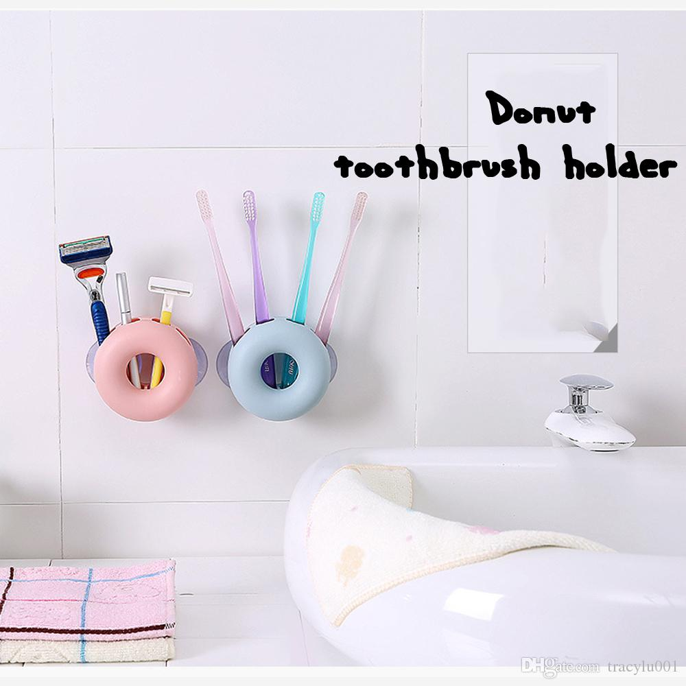 2018 Wall Sucker Toothbrush Rack 4 Hole Bathroom Tools Holder ...