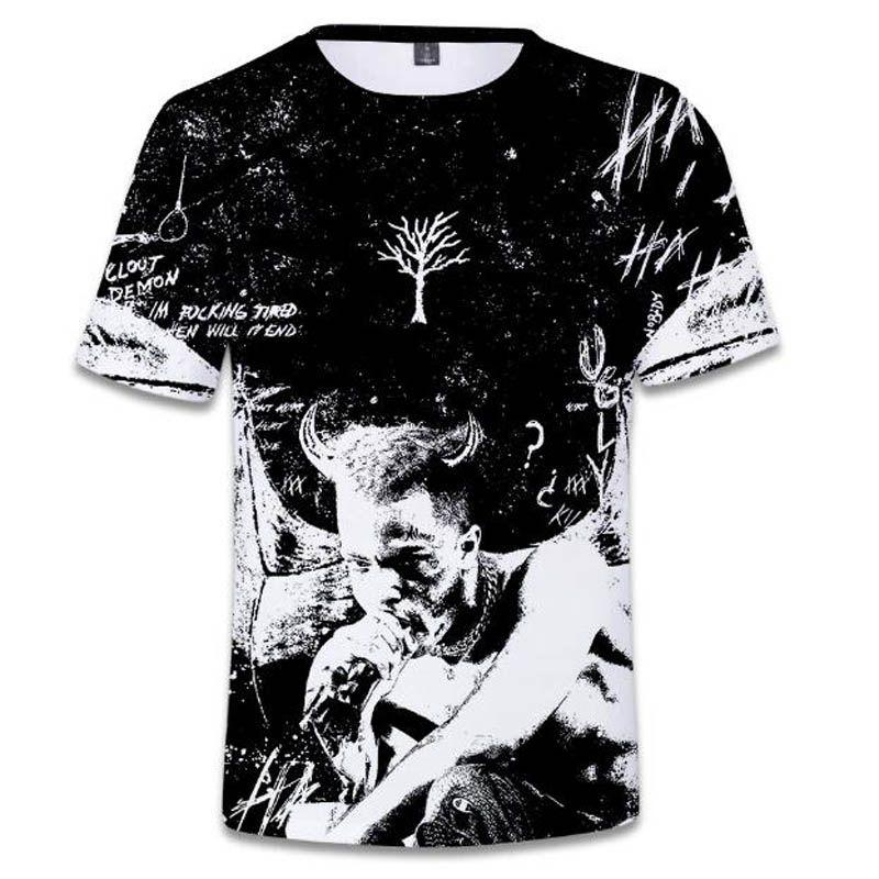 Compre 2018 Nueva Camiseta De Hip Hop Xxxtentacion J Cole Dogg Drake Moda  Hipster Masculina Camiseta De Manga Corta Rap 3D Camiseta De Talla Superior  A ... 6cd7739752c