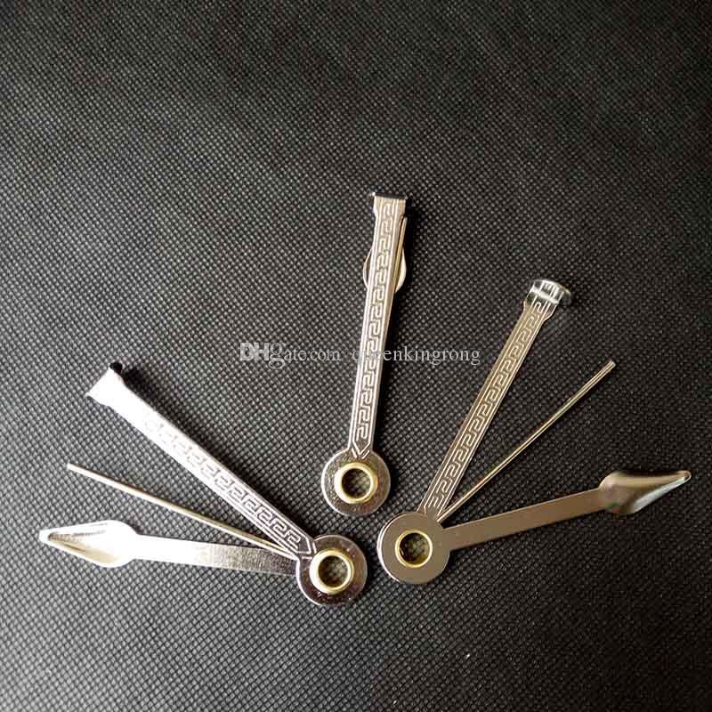 3 in 1 fumo tubo di pulizia strumento di pulizia dell'acciaio inossidabile detergente tubi 3.2inch Pick Pick Skin Spoon Tamper Coltello Pieghevole Design Accessori