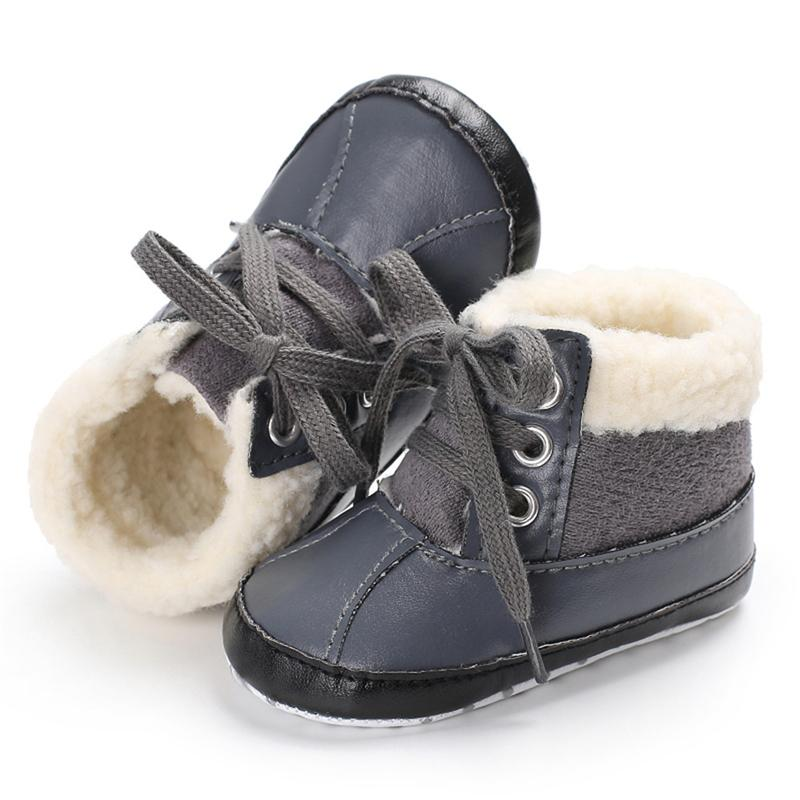 e9bc557894d9 Baby Boys Snow Boots Winter Boots Infant Toddler New Crib Soft Sole Shoes 0 18M  Shoes Babe Selection Belt Girls In Leather Boots Boot Sale From Sophine13,  ...