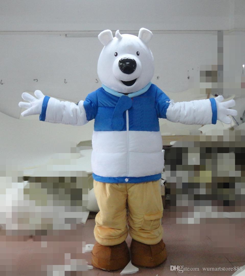 Acquista costumi mascotte orso polare tema animato orso bianco