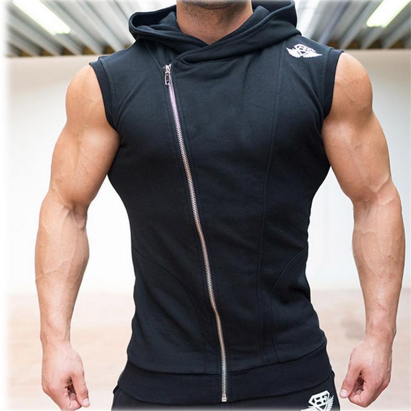Men Gym Tank Top Bodybuilding Stringer Hoodies Sleeveless Singlets Shark Skull Shirt Clothing Academia Sexy jersey Bodybuilding