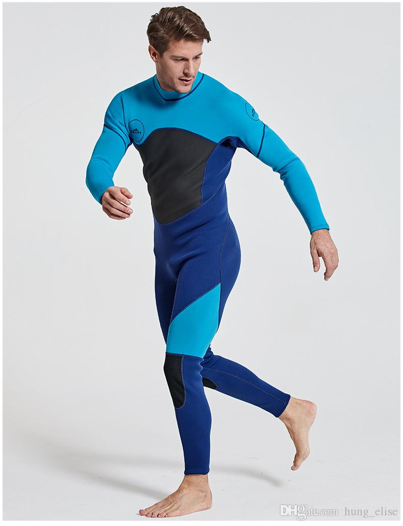 New 3mm Diving suit neoprene diving spearfishing wetsuit snorkel swimsuit for men size M-2XL