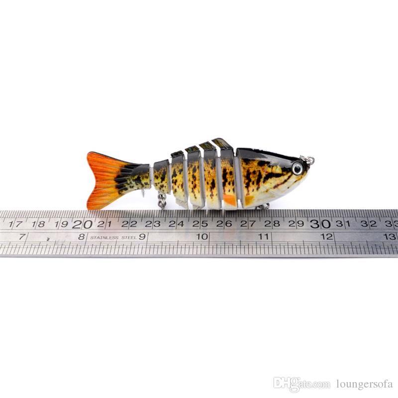 Classic Multi Section Fish 10cm Hard Plastic Lures Fishing Hooks 15g Fishhooks 3D Eyes Artificial Bait Tackle 10sb W