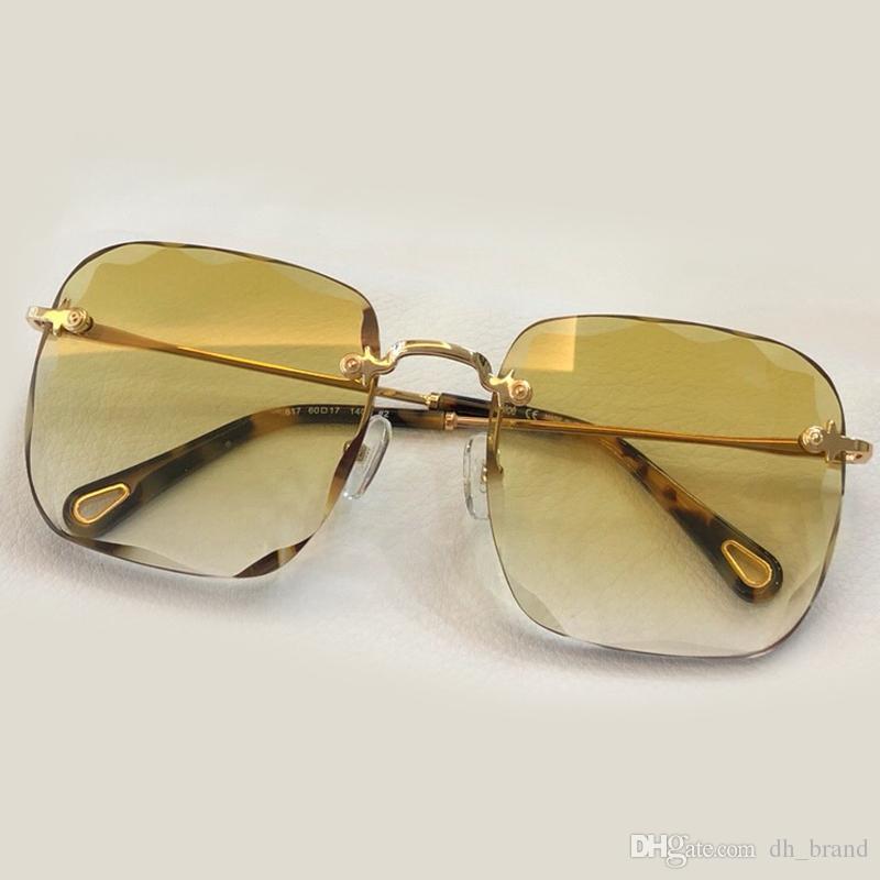 172b389d7f Square Frameless Sunglasses Women Flower Shape Fashion 2018 Brand Designer  Sunglasses Women Rimless UV400 Gradient Transparent Frame Glasses Round  Glasses ...