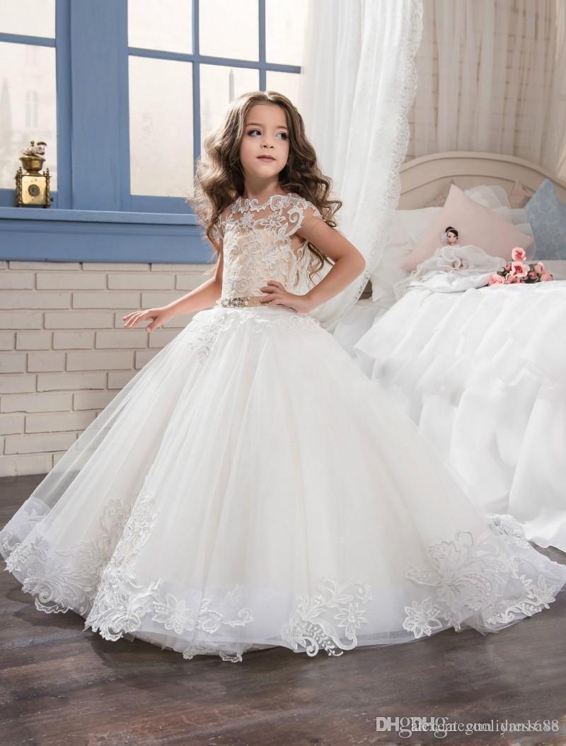 vestido para niños y vestidos para niñas de las flores Vestido de gala Perfect Angel con parte inferior de tul suave y apliques de encaje desfile para niñas Vestidos