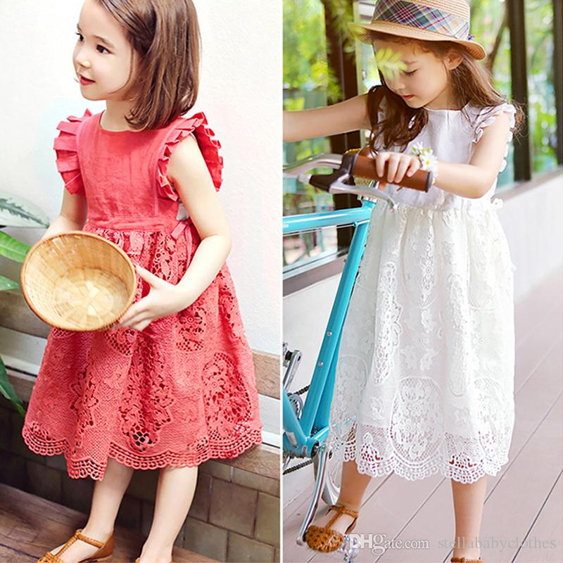 d6e9fde2bcf6 2019 Latest Girls Lace Dresses 2018 Summer Style Baby Girls Dress ...