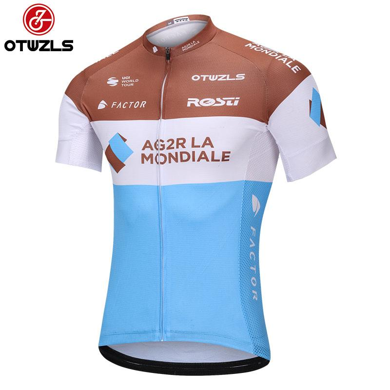 d410e5b6b Satın Al AG2R 2018 Erkek Bisiklet Jersey Kısa Kollu Bisiklet Giyim Pro Team  Dağ Bisikleti Jersey Bisiklet Bisiklet Giyim Maillot Ropa Ciclismo