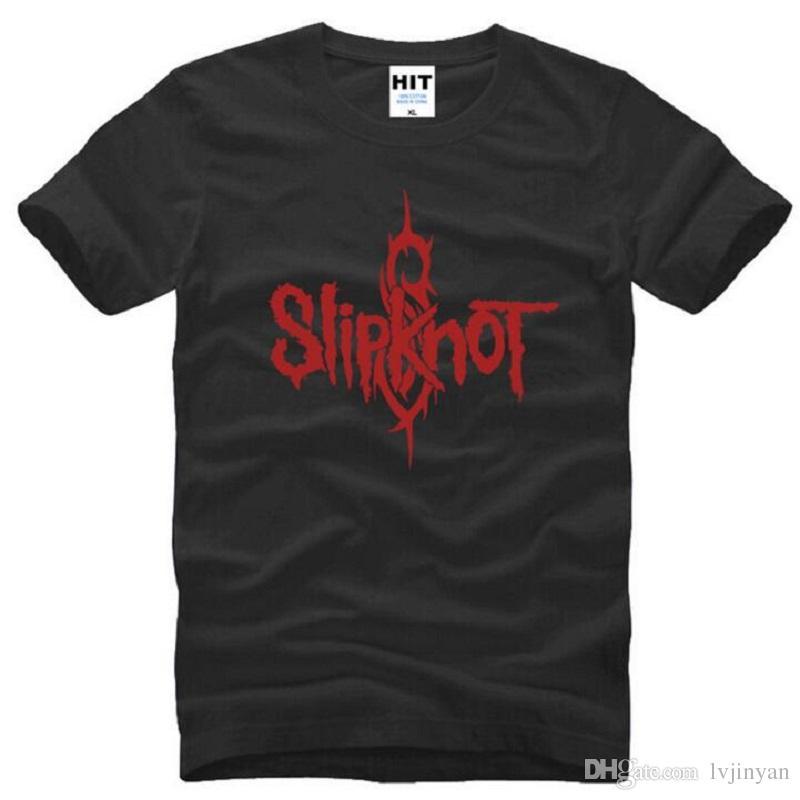 Rock Band Slipknot Hip Hop T Shirts Men Summer Short Sleeve O-Neck Cotton Men's T Shirt Street Heavy Metal Music Mens Top Tees