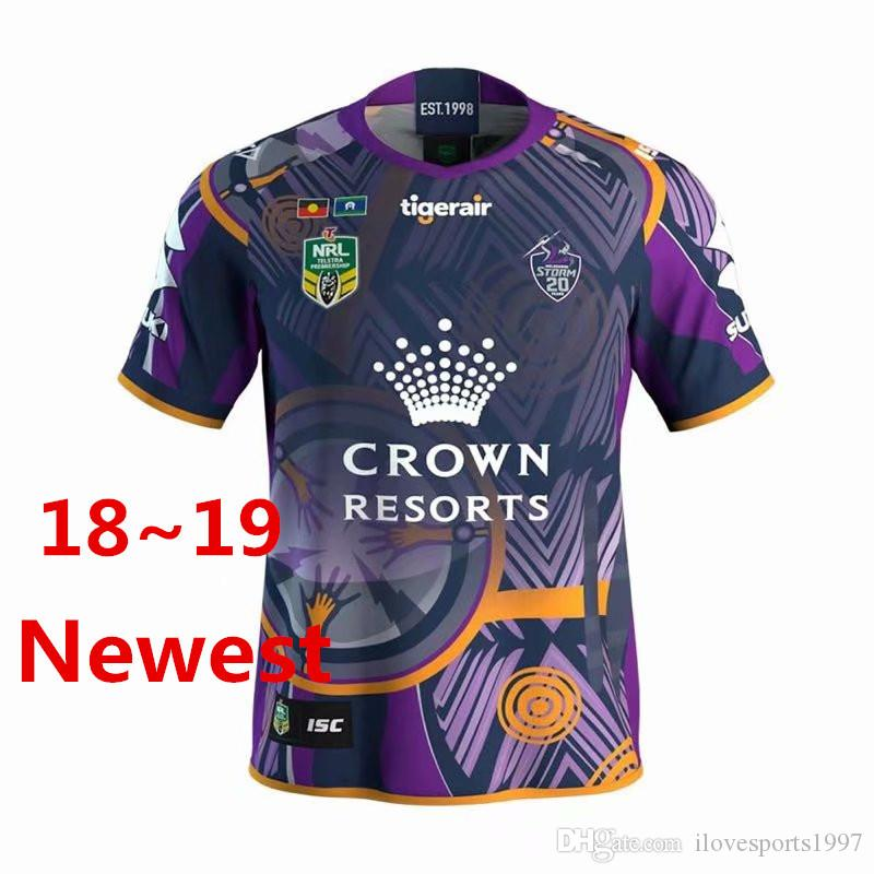 c8ab5b096fd 2018 2018 2019 Melbourne Storm Indigenous Rugby Jerseys Nrl National Rugby  League Shirt Nrl Jersey Australia Melbourne Storm From Ilovesports1997