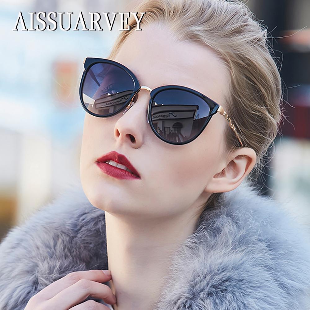 Compre 2018 Acetato De Moda Óculos De Sol Polarizados Para As Mulheres De  Alta Qualidade Meninas Senhora Marca Designer De Olho De Gato Espelho De  Metal ... 494b1daa1c