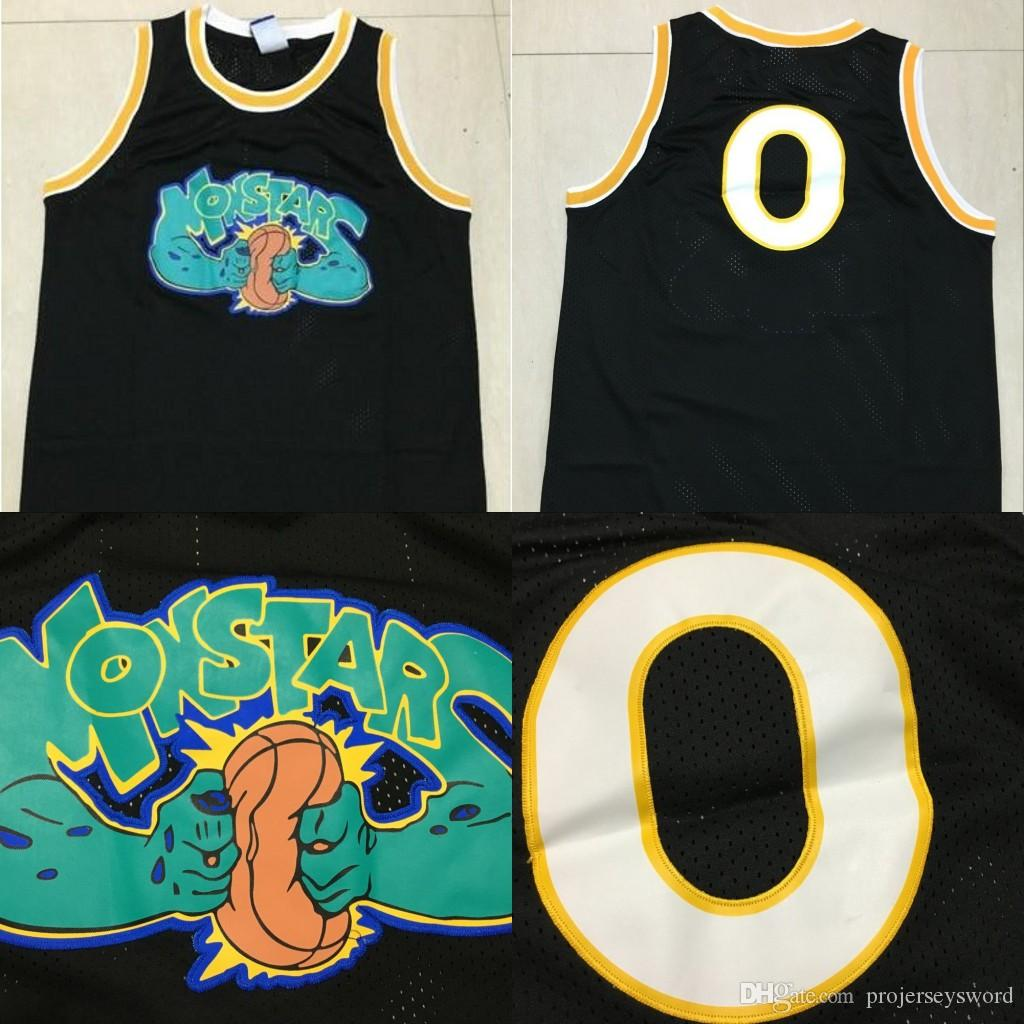 bc4326a82ecb66 2019 Alien 0 Space Jam Movie Basketball Jersey Monstars Tune Squad Black  100% Stitched Alien Movie Basketball Shirts From Projerseysword