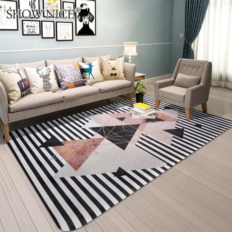 Madrid Taupe Beige Ultra Modern Living Room Furniture 3: The Nordic Geometric Carpet Modern Bedroom Living Room