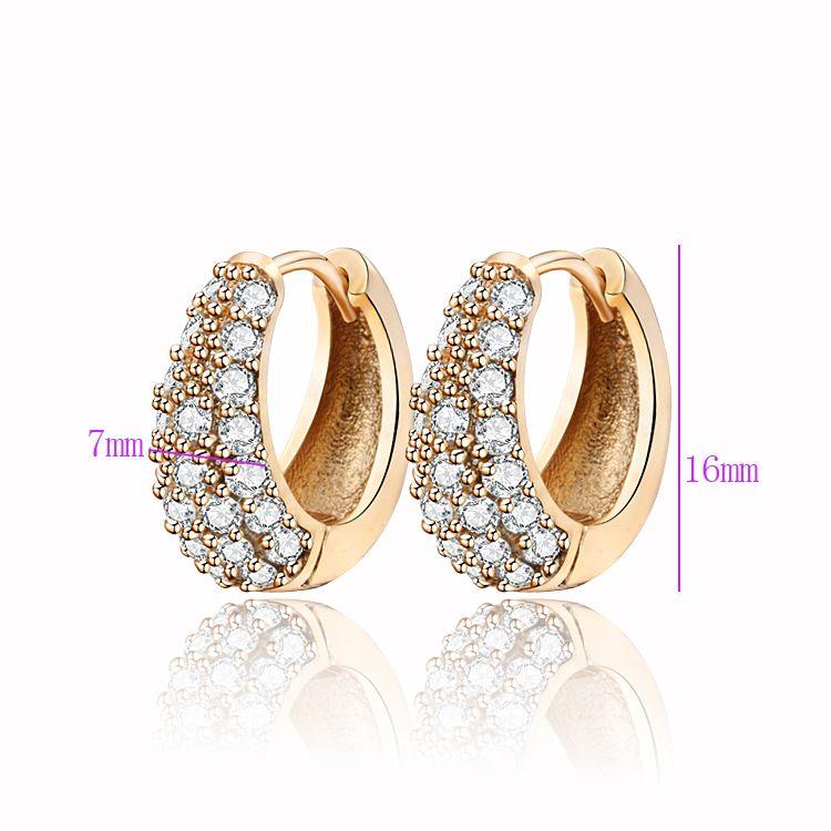 9d3317374b Hoop Earrings Gold-Color CC Hoop Huggie Earrings For Women Bijoux Brinco Cz  Cubic Zirconia Jewelry Fashion Free shipping 33E18K-54