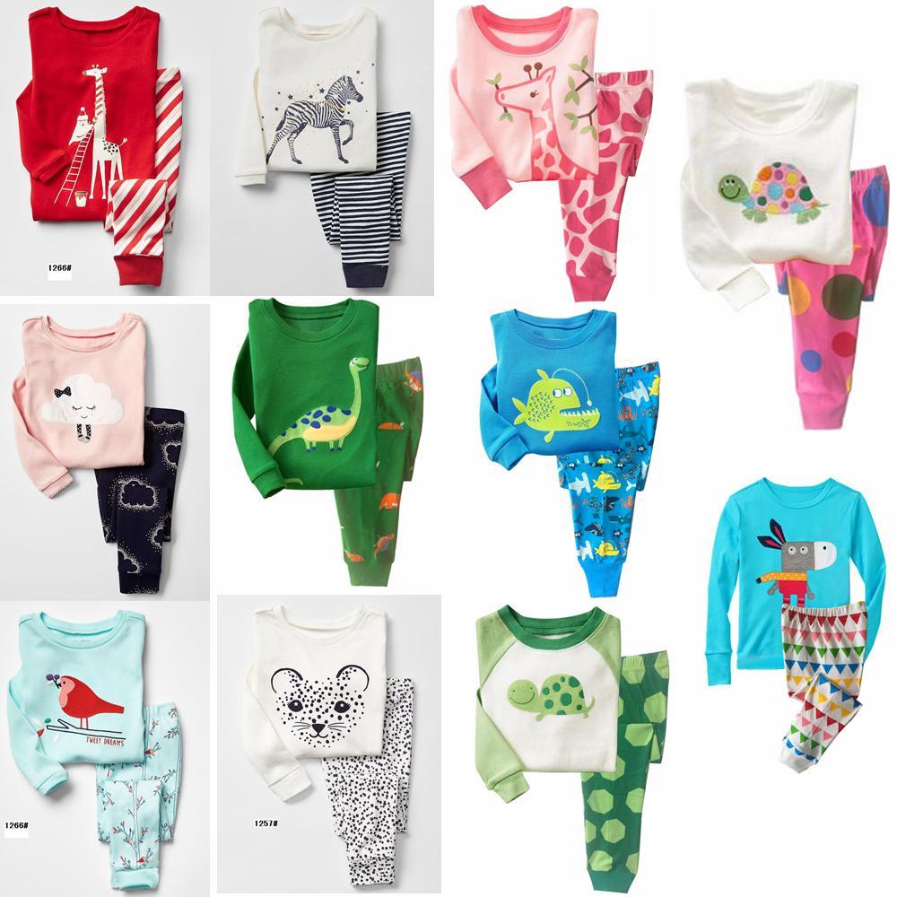 569de90ac Ropa para el hogar para niños Niña Bebé Animales Ropa impresa Conjunto  Niños Casual Dinosaurio impresión Pijamas Camiseta de manga larga ...