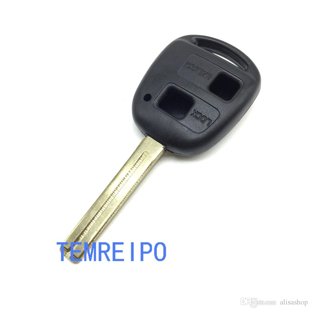 uncut Blade 2 Buttons remote smart car key case for Toyota Camry car key shell replacement cover for toyota